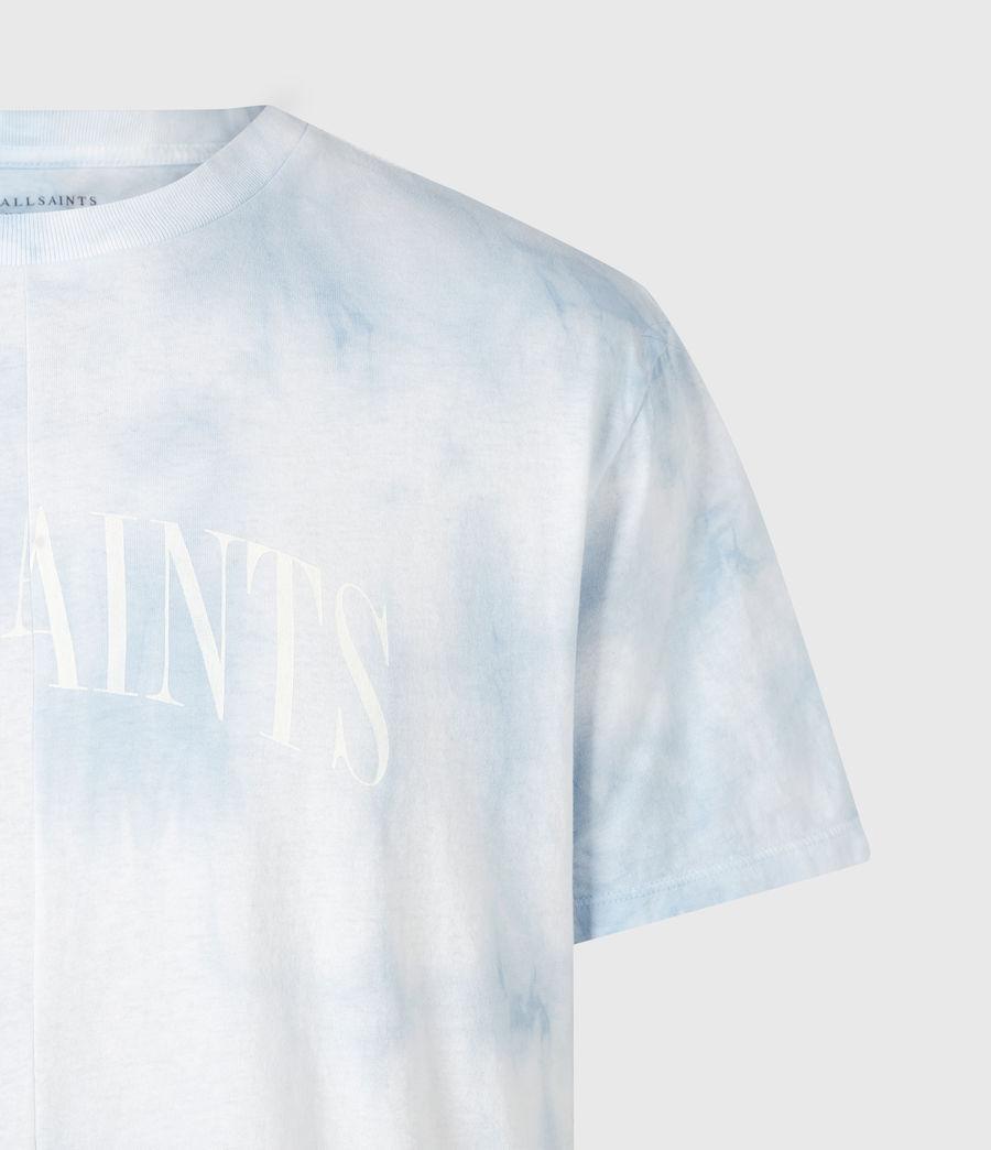 Mens Dropout Tie Dye Crew T-Shirt (optic_white) - Image 5