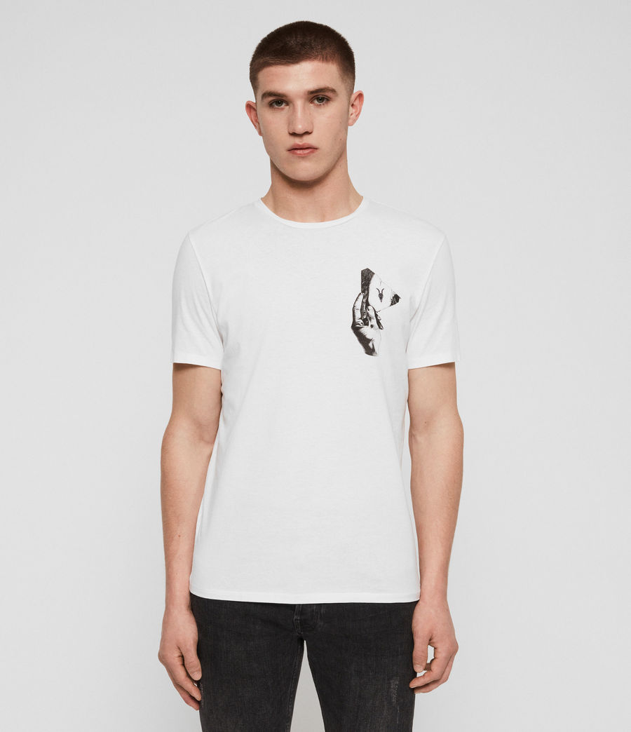 Uomo T-shirt Mirror (optic_white_black) - Image 1