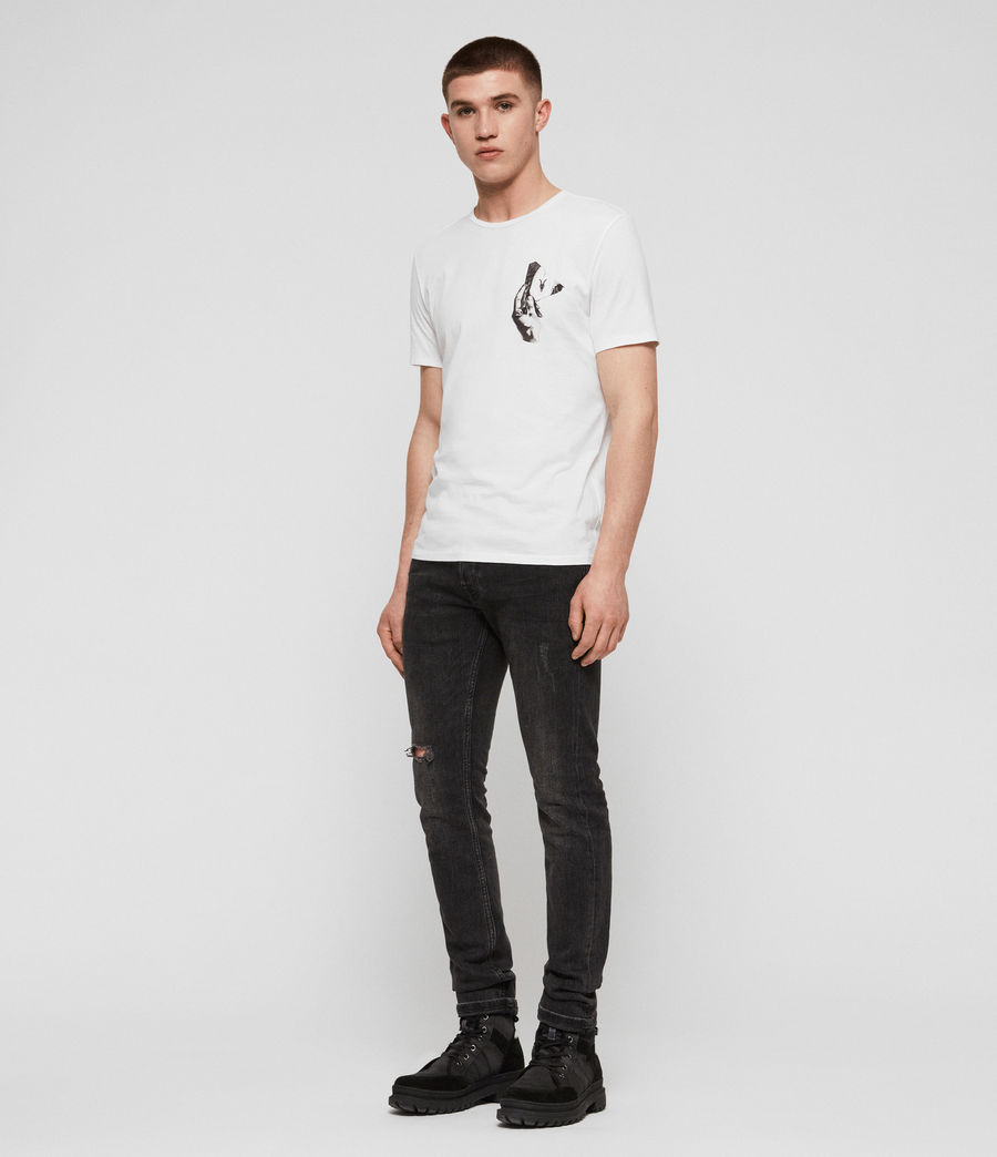 Men's Mirror Crew T-Shirt (optic_white_black) - Image 3