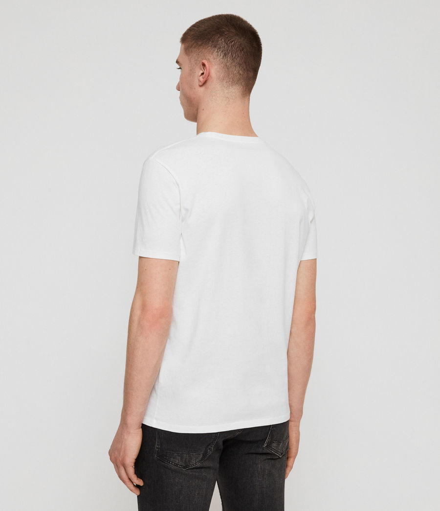 Men's Mirror Crew T-Shirt (optic_white_black) - Image 4