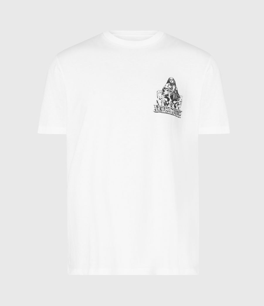 Mens Troglodyte Crew T-Shirt (optic_wht_jet_blk) - Image 2