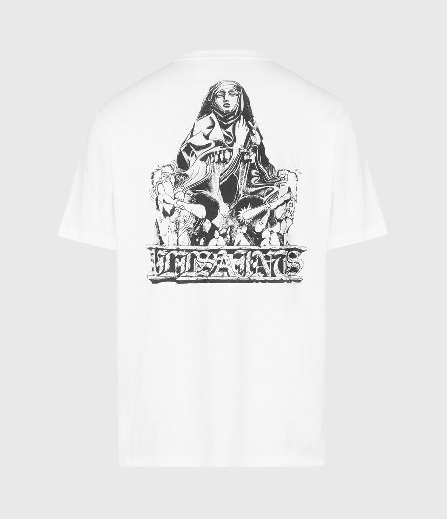 Mens Troglodyte Crew T-Shirt (optic_wht_jet_blk) - Image 3