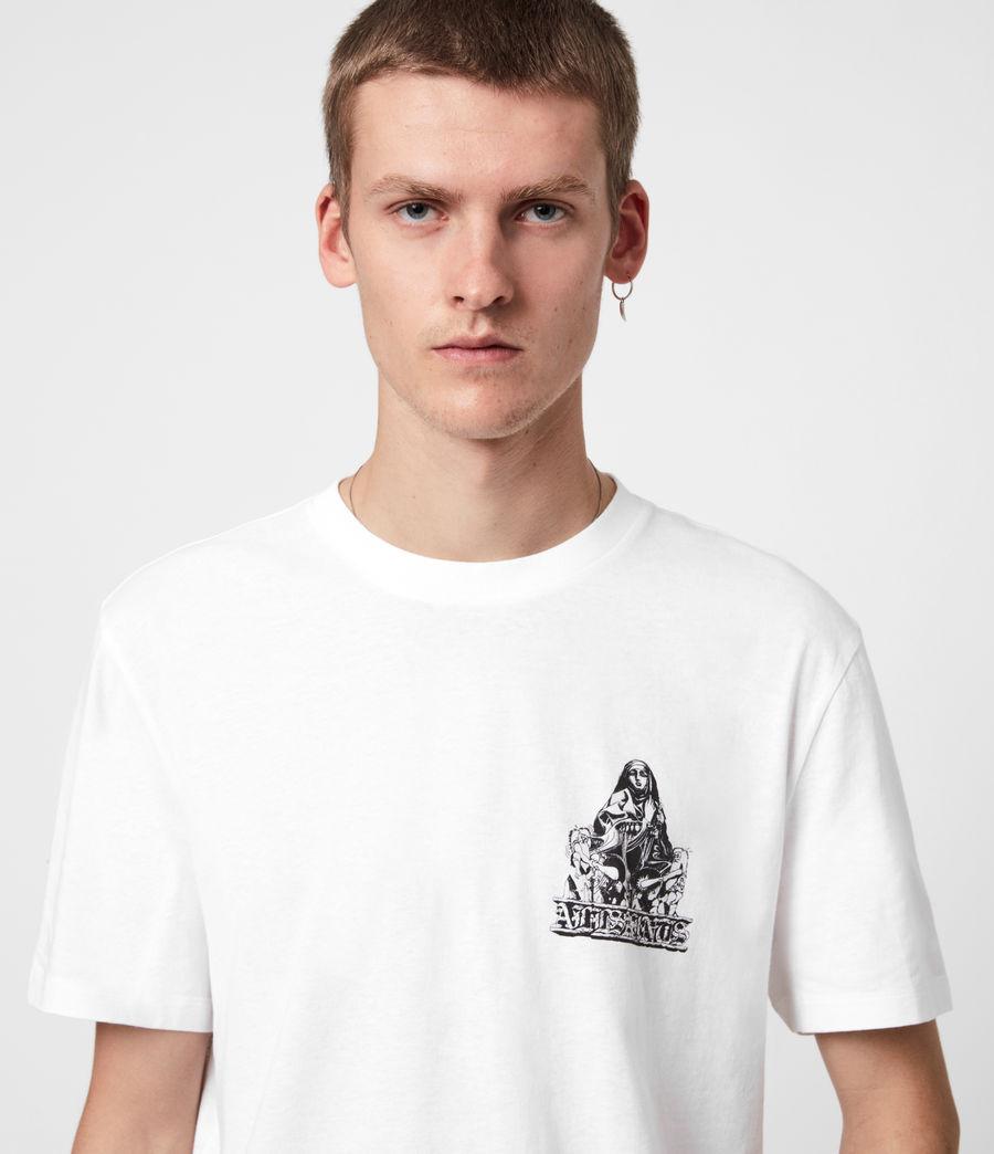 Mens Troglodyte Crew T-Shirt (optic_wht_jet_blk) - Image 4