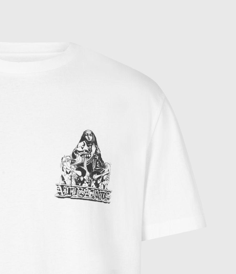 Mens Troglodyte Crew T-Shirt (optic_wht_jet_blk) - Image 5