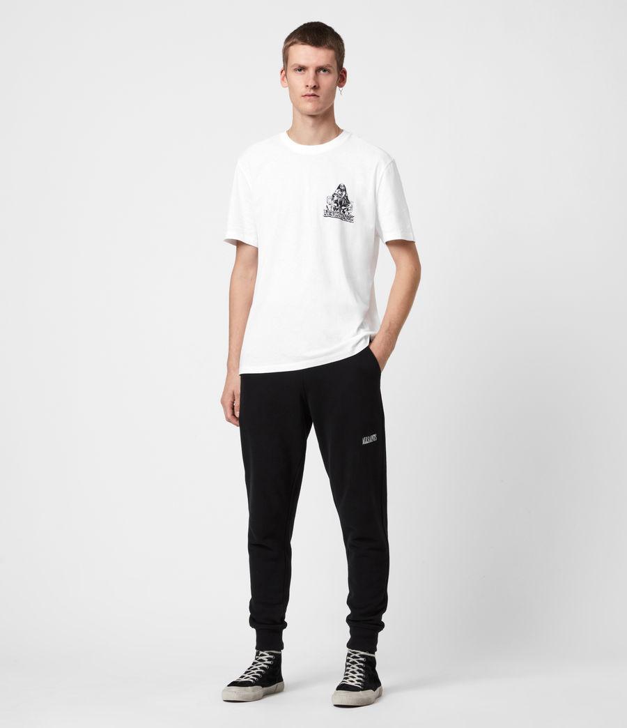 Mens Troglodyte Crew T-Shirt (optic_wht_jet_blk) - Image 6
