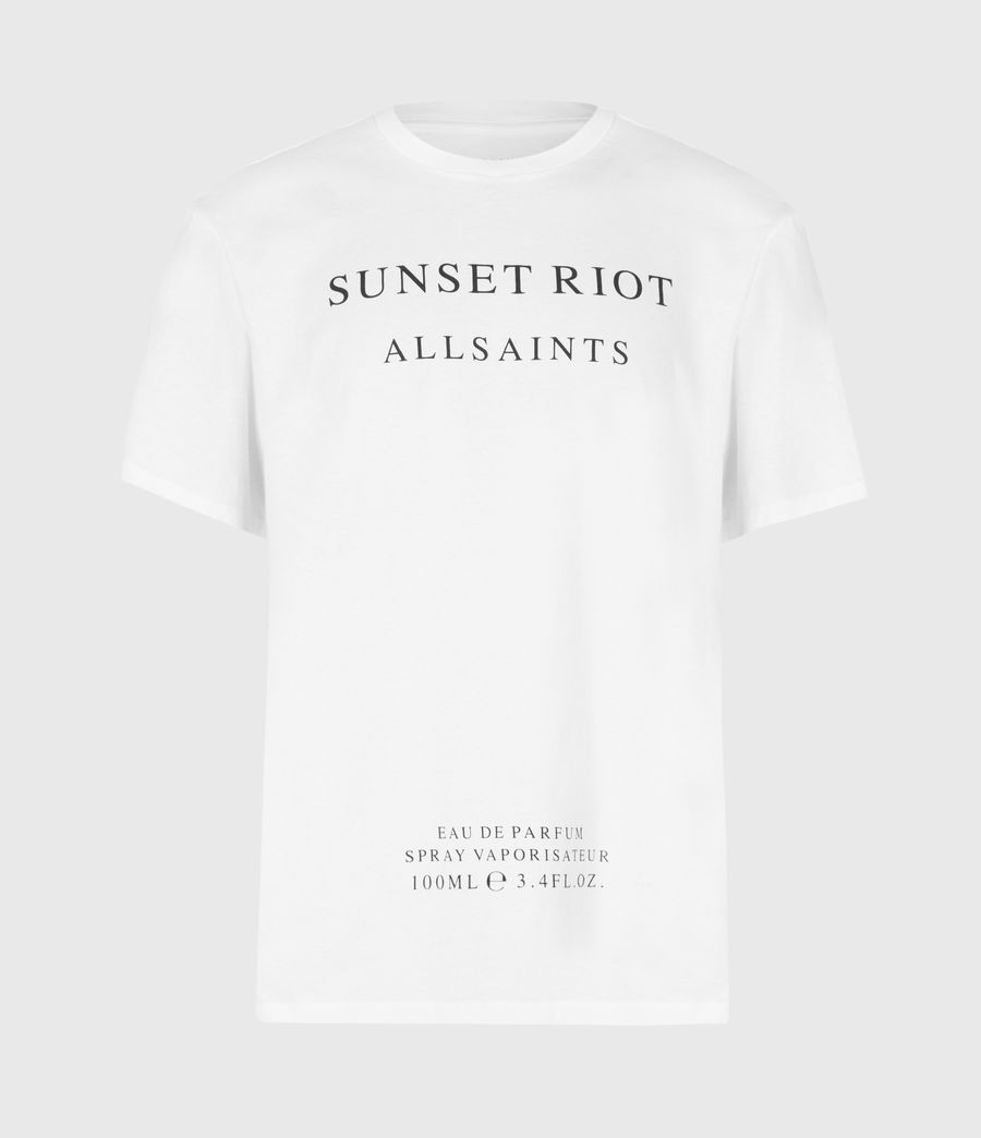 Mens Sunset Riot Crew T-Shirt (optic_white) - Image 2