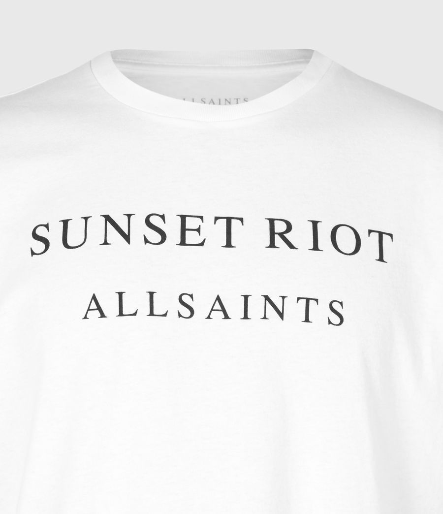 Mens Sunset Riot Crew T-Shirt (optic_white) - Image 4