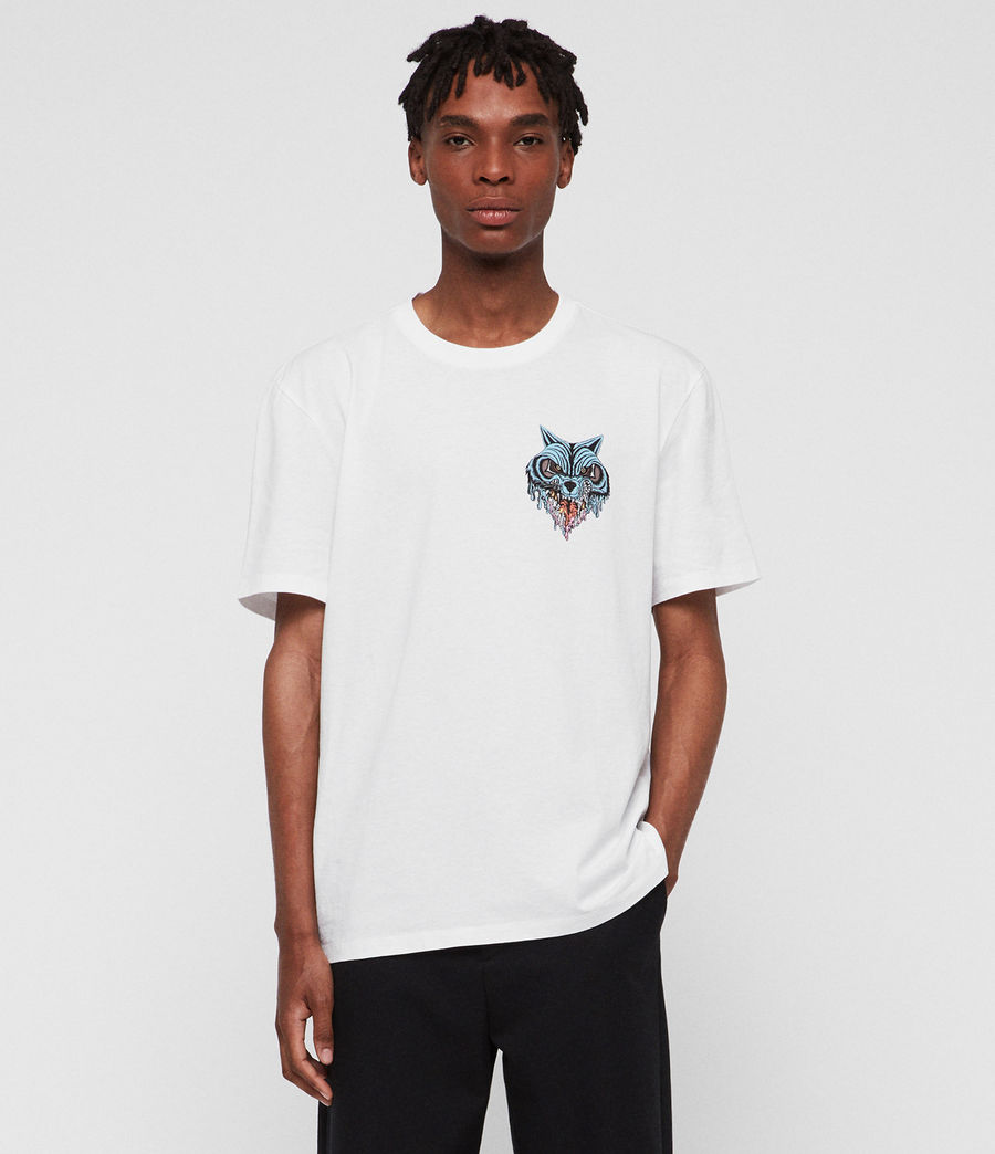 Men's Waxwolf Crew T-Shirt (optic_white) - Image 1