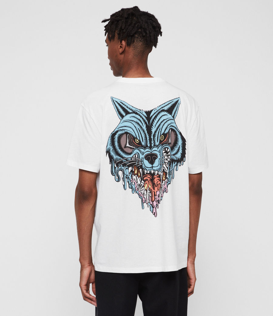 Mens Waxwolf Crew T-Shirt (optic_white) - Image 2