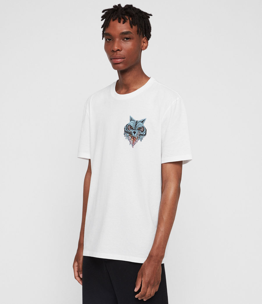 Mens Waxwolf Crew T-Shirt (optic_white) - Image 3