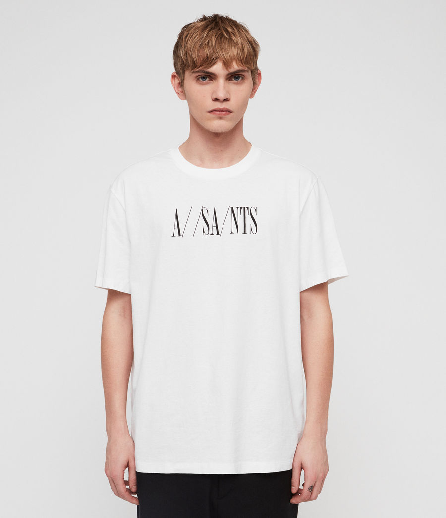 Uomo T-shirt Dash (optic_white_black) - Image 1