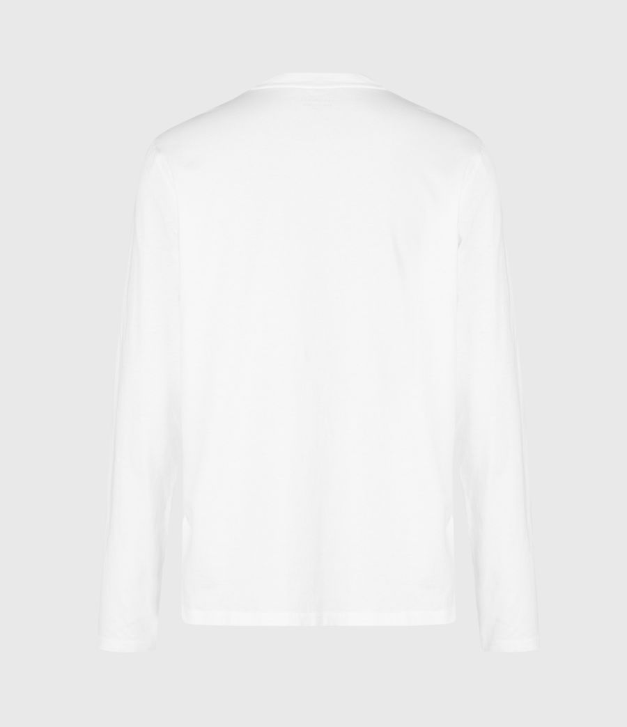 Hommes Flora Mortis Long Sleeve Crew T-Shirt (optic_white) - Image 3