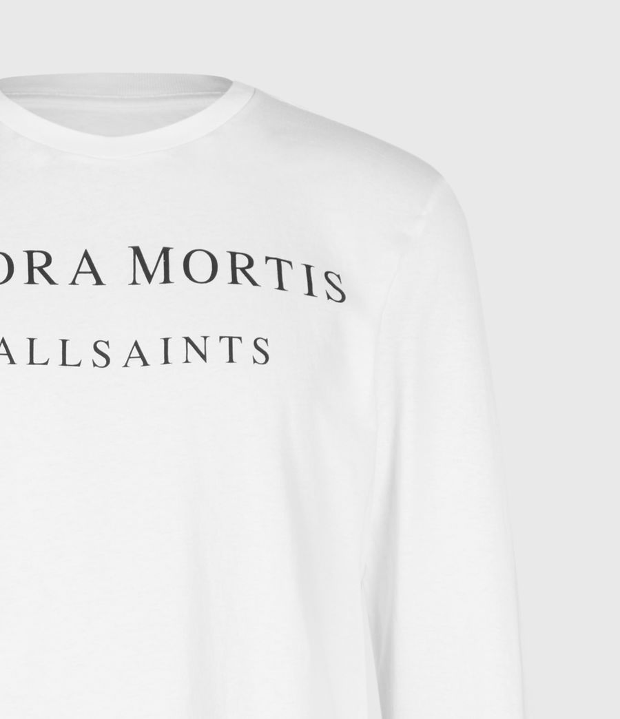 Hommes Flora Mortis Long Sleeve Crew T-Shirt (optic_white) - Image 4