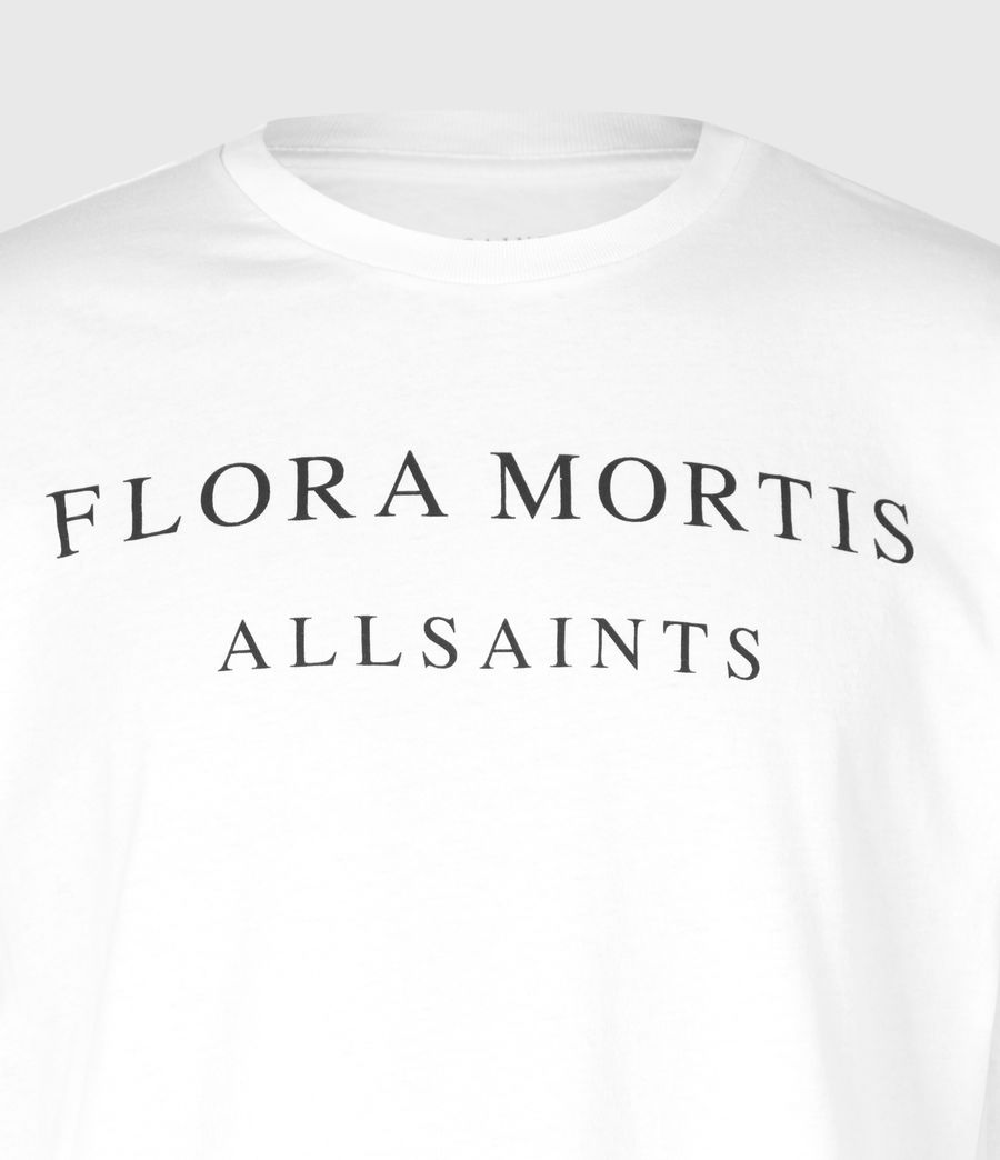 Hommes Flora Mortis Long Sleeve Crew T-Shirt (optic_white) - Image 5