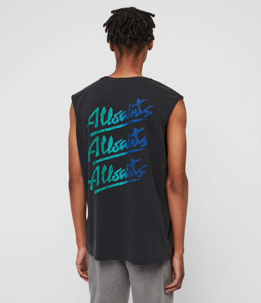 Men's Alvays Sleeveless Crew T-Shirt (vintage_black) - Image 4