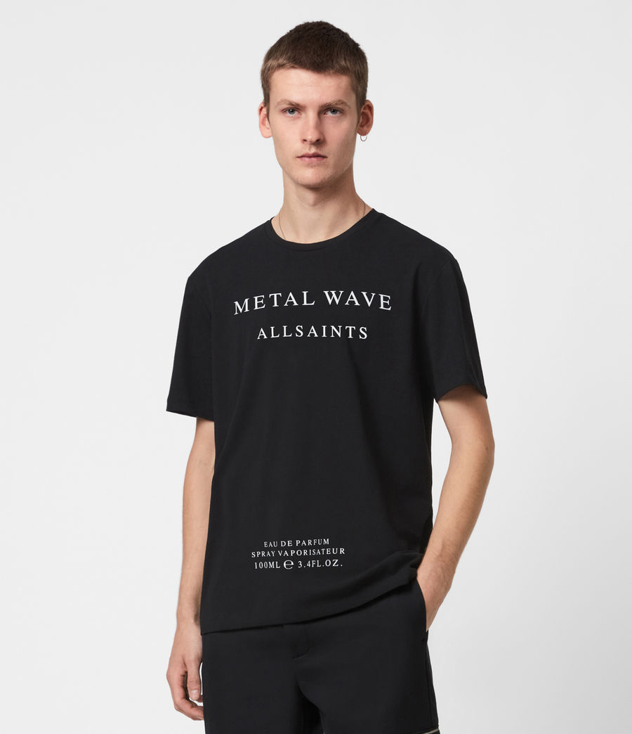 Herren Metal Wave T-Shirt (jet_black) - Image 1