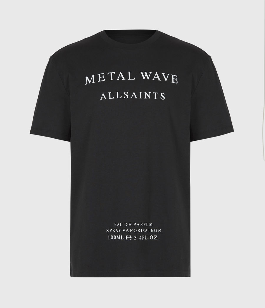 Herren Metal Wave T-Shirt (jet_black) - Image 2