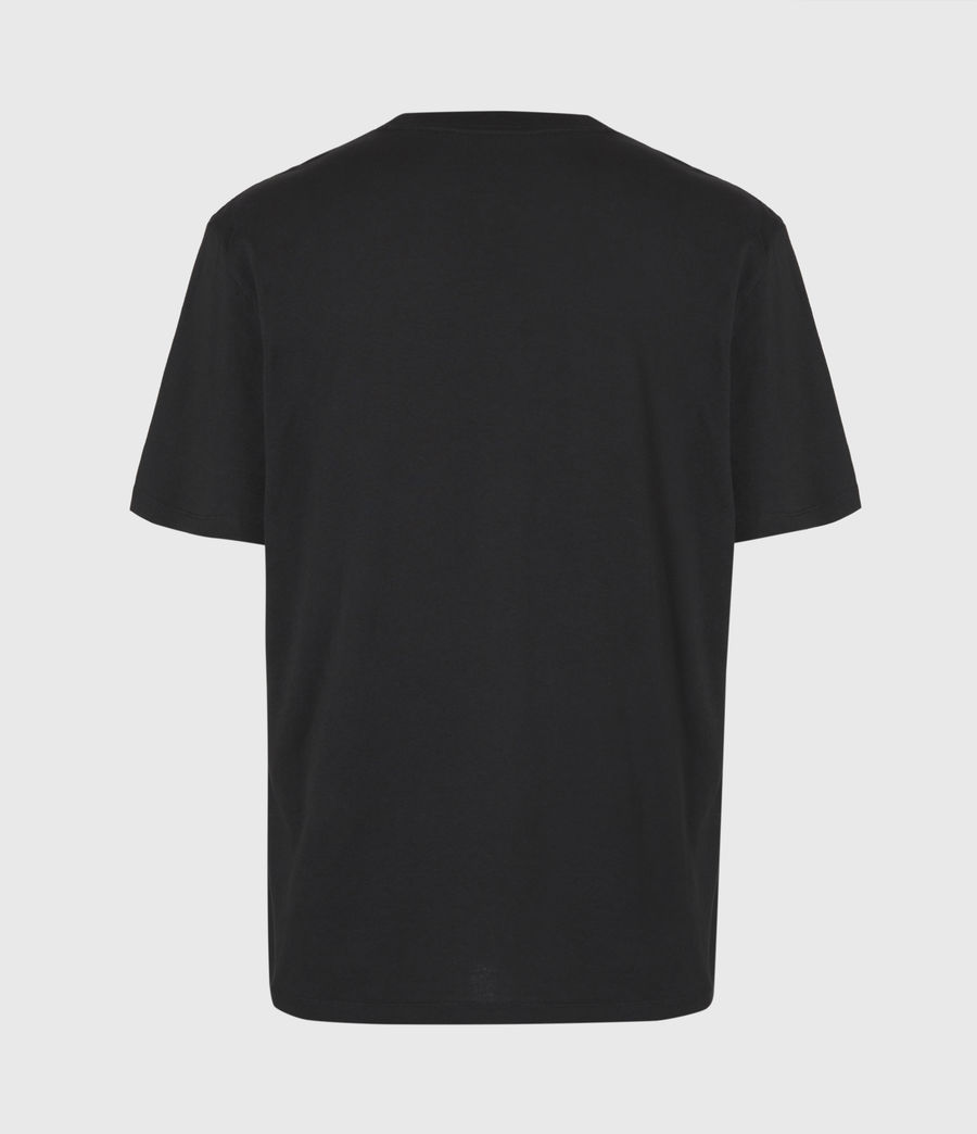 Herren Metal Wave T-Shirt (jet_black) - Image 3