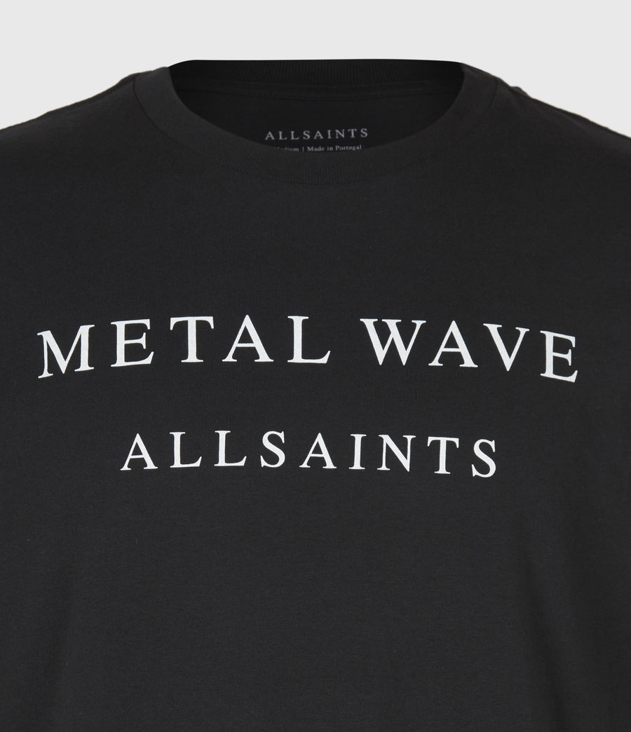 Herren Metal Wave T-Shirt (jet_black) - Image 4