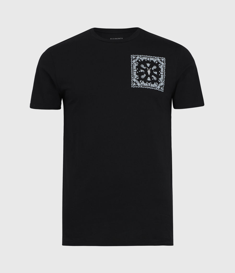 Mens Badmanna Crew T-Shirt (jet_black) - Image 2