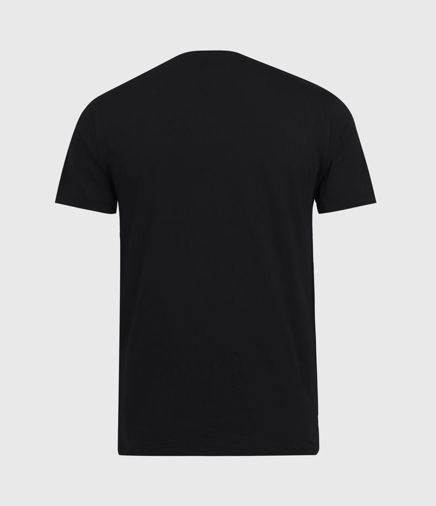 Mens Badmanna Crew T-Shirt (jet_black) - Image 3