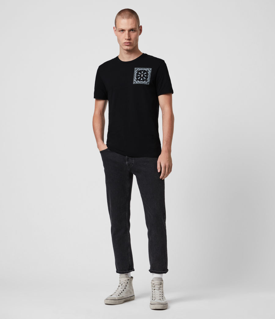 Mens Badmanna Crew T-Shirt (jet_black) - Image 4