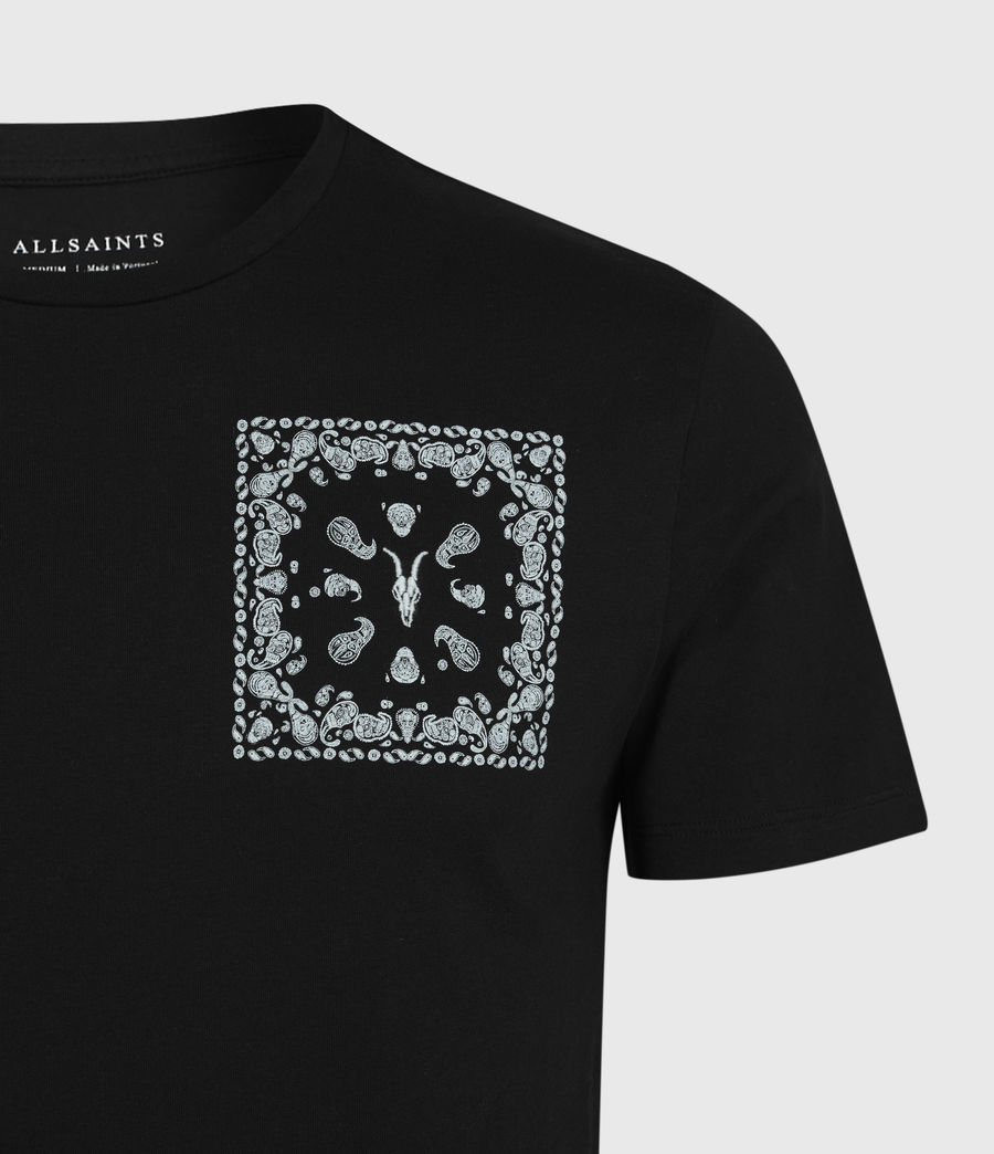 Mens Badmanna Crew T-Shirt (jet_black) - Image 5