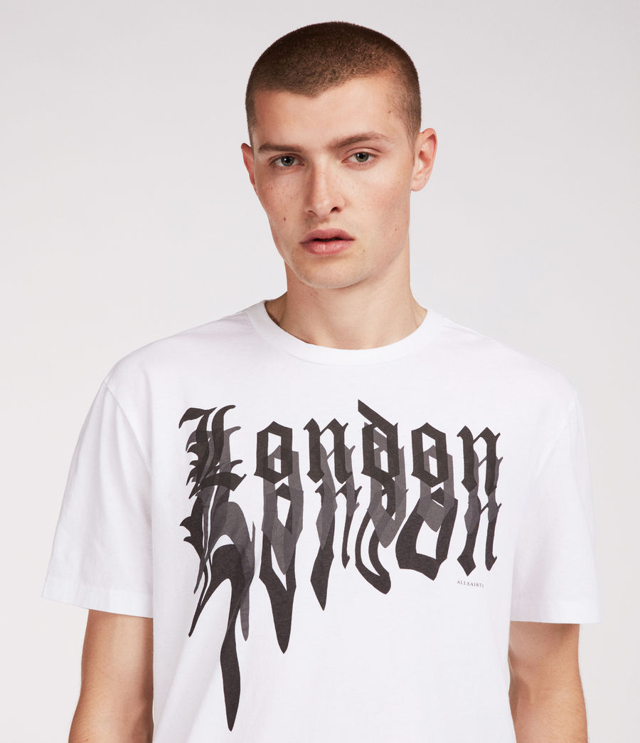 Men's London Crew T-Shirt (white) - Image 1