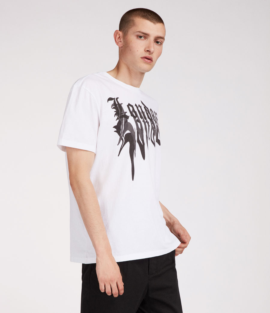 Men's London Crew T-Shirt (white) - Image 2