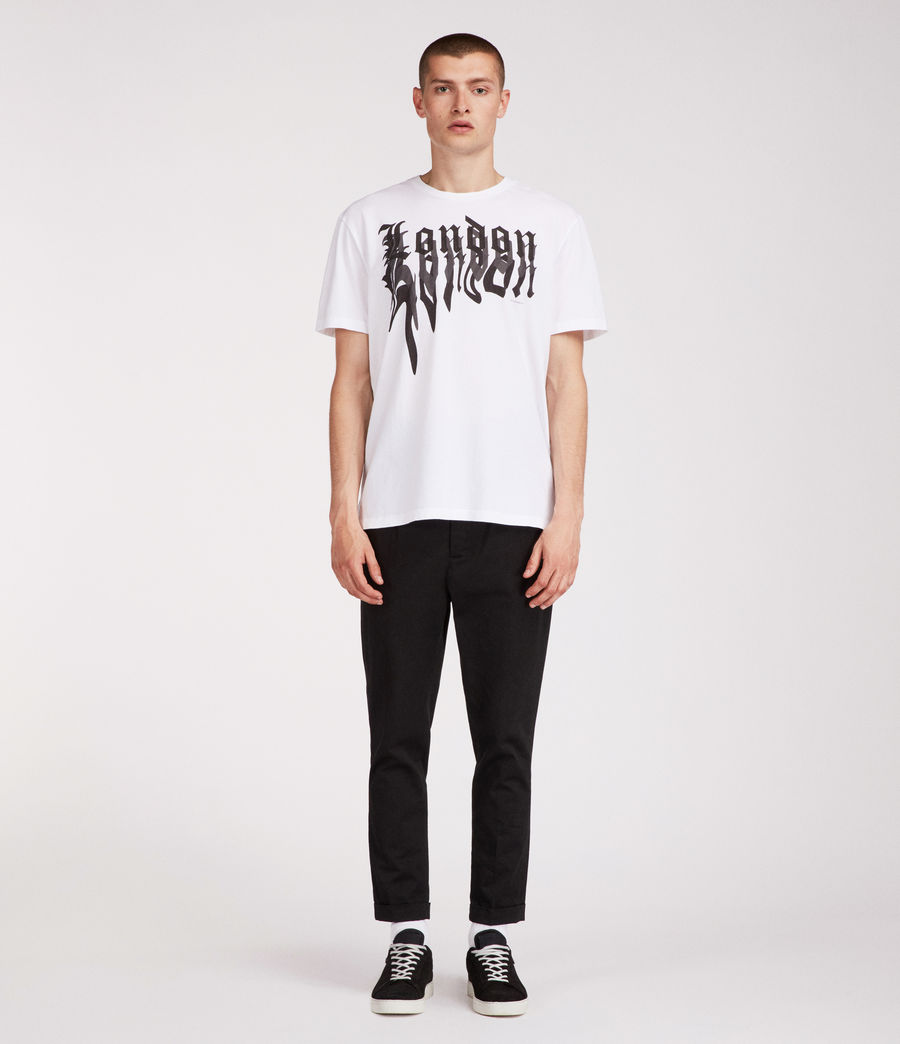 Men's London Crew T-Shirt (white) - Image 3
