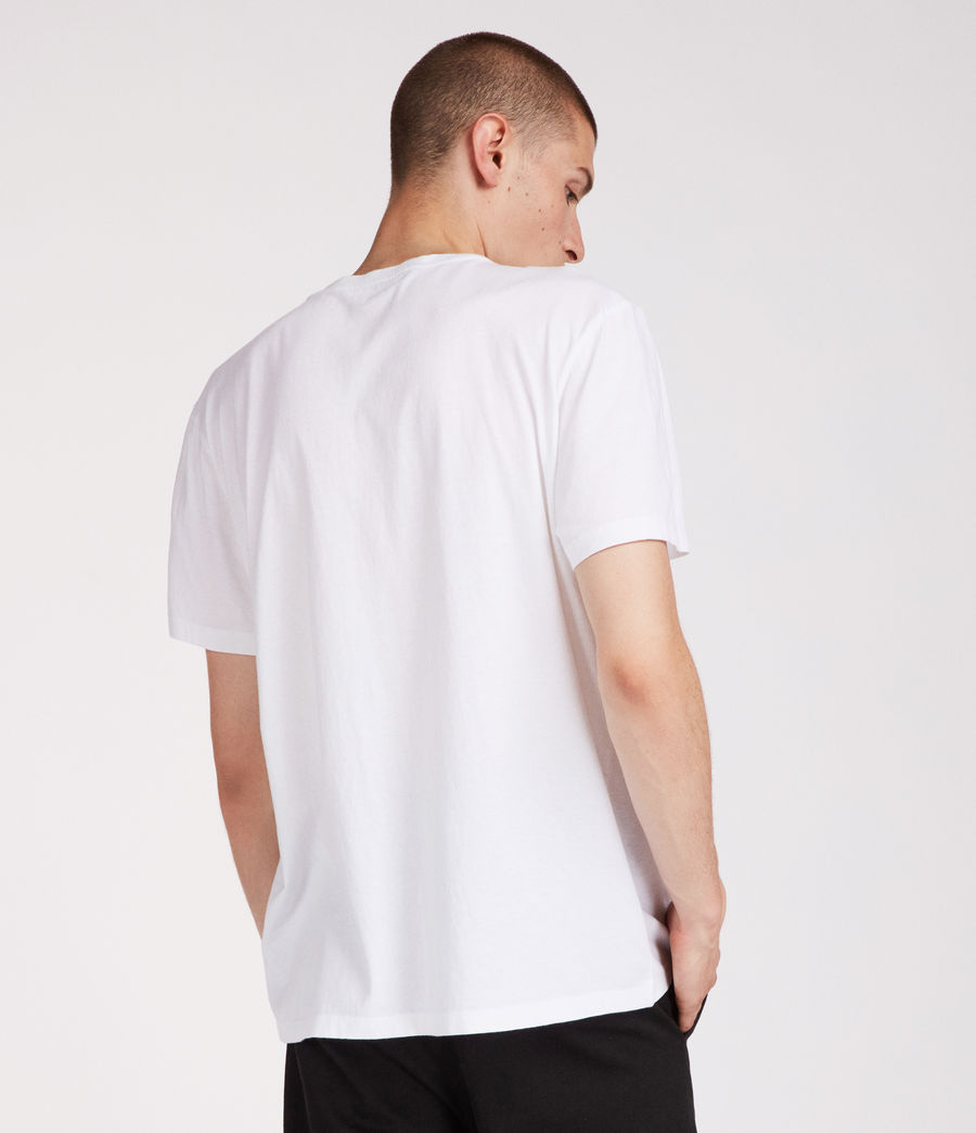 Men's London Crew T-Shirt (white) - Image 4