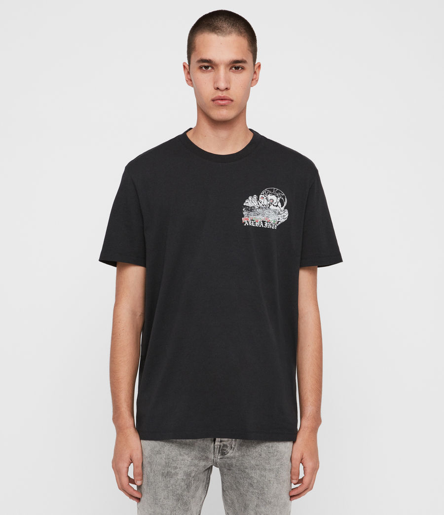 Mens Stopper Crew T-shirt (jet_black) - Image 1