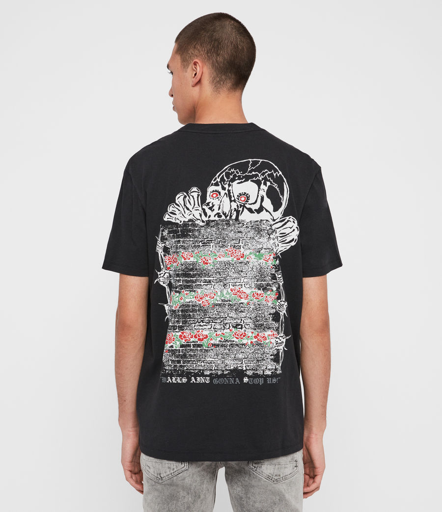 Mens Stopper Crew T-shirt (jet_black) - Image 2