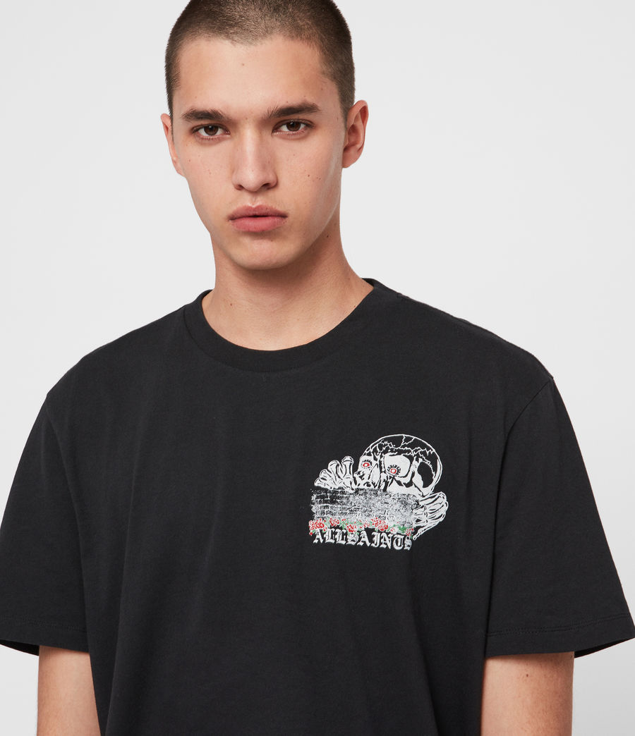 Mens Stopper Crew T-shirt (jet_black) - Image 3