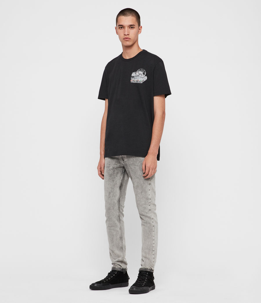 Mens Stopper Crew T-shirt (jet_black) - Image 4