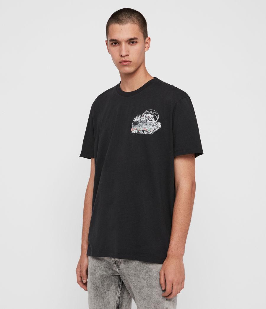 Mens Stopper Crew T-shirt (jet_black) - Image 5