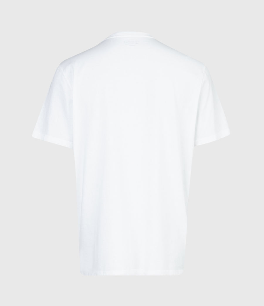 Mens Vertice Crew T-Shirt (optic_white) - Image 3
