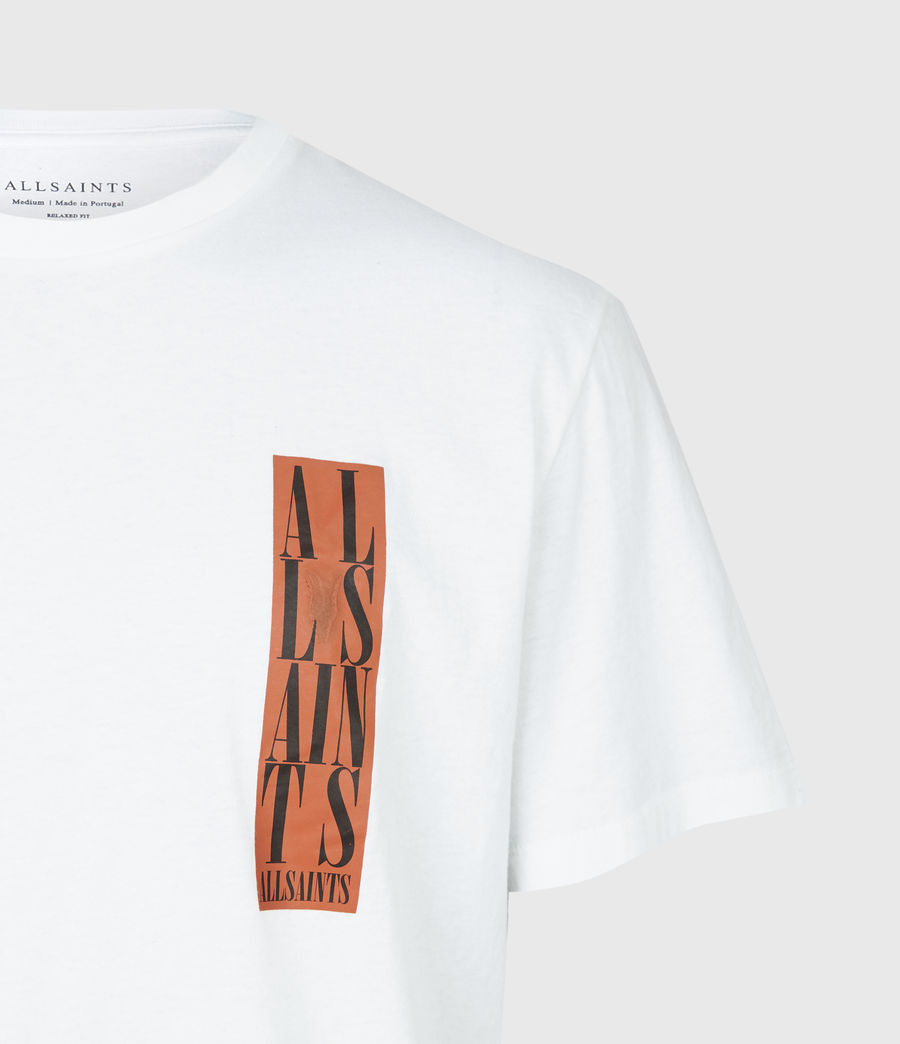 Mens Vertice Crew T-Shirt (optic_white) - Image 5