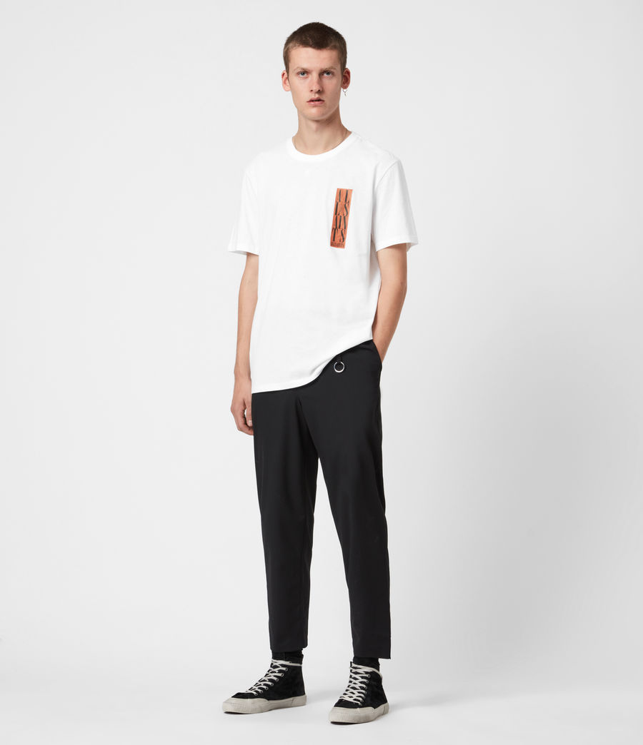 Mens Vertice Crew T-Shirt (optic_white) - Image 6