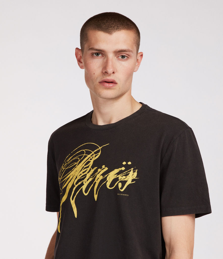 Men's Paris Crew T-Shirt (vintage_black) - Image 1