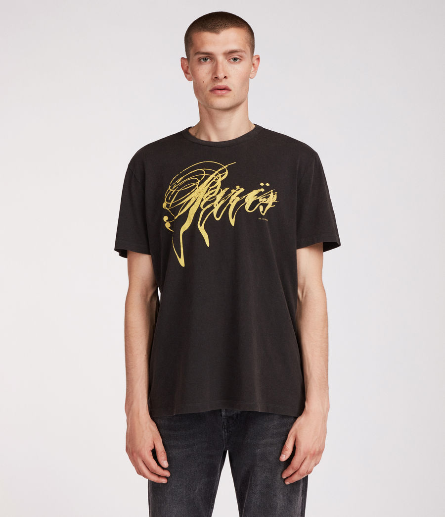 Men's Paris Crew T-Shirt (vintage_black) - Image 2