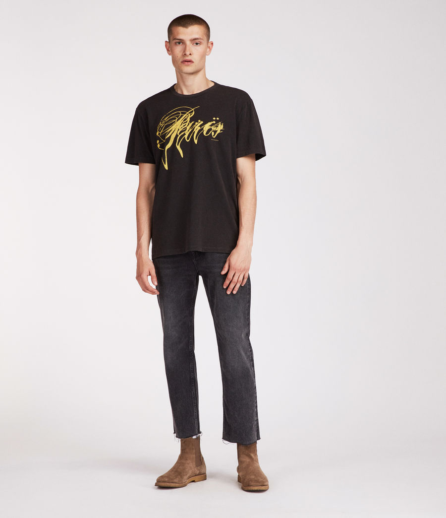 Men's Paris Crew T-Shirt (vintage_black) - Image 3