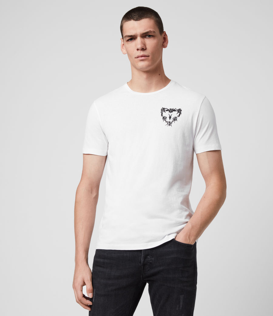 Mens Heart String Crew T-Shirt (optic_white) - Image 1