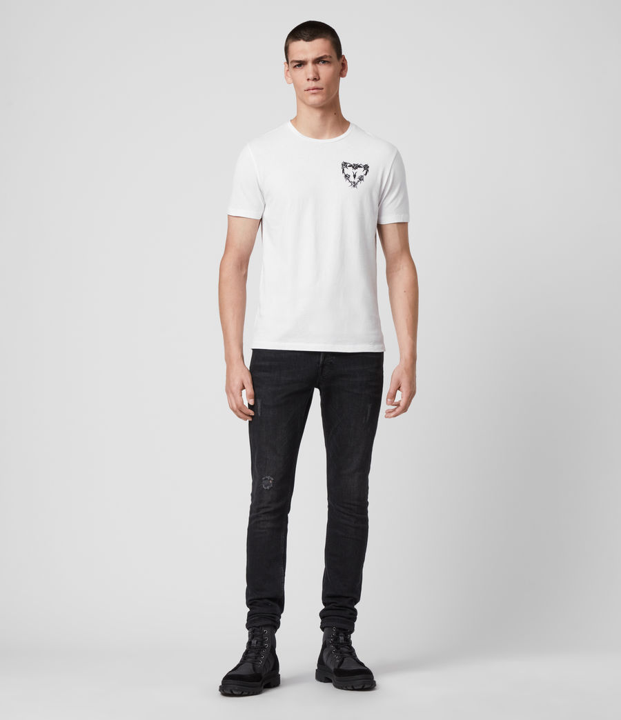 Mens Heart String Crew T-Shirt (optic_white) - Image 2