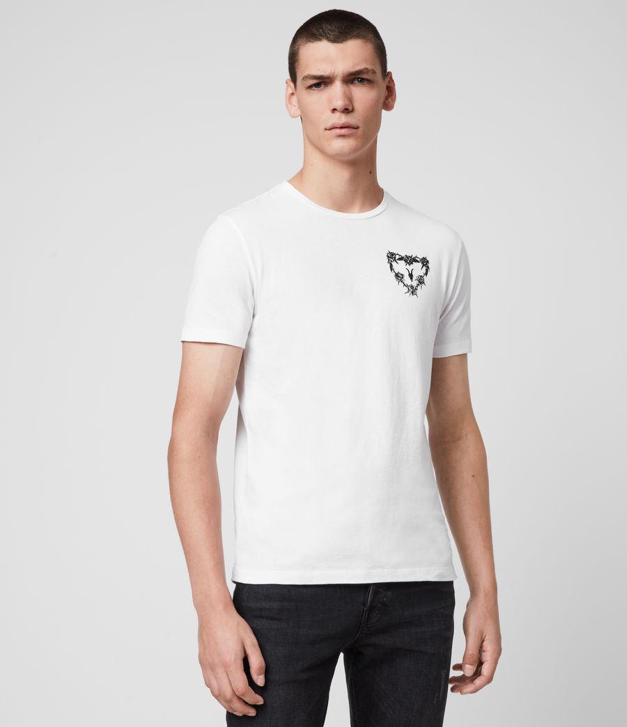 Mens Heart String Crew T-Shirt (optic_white) - Image 3