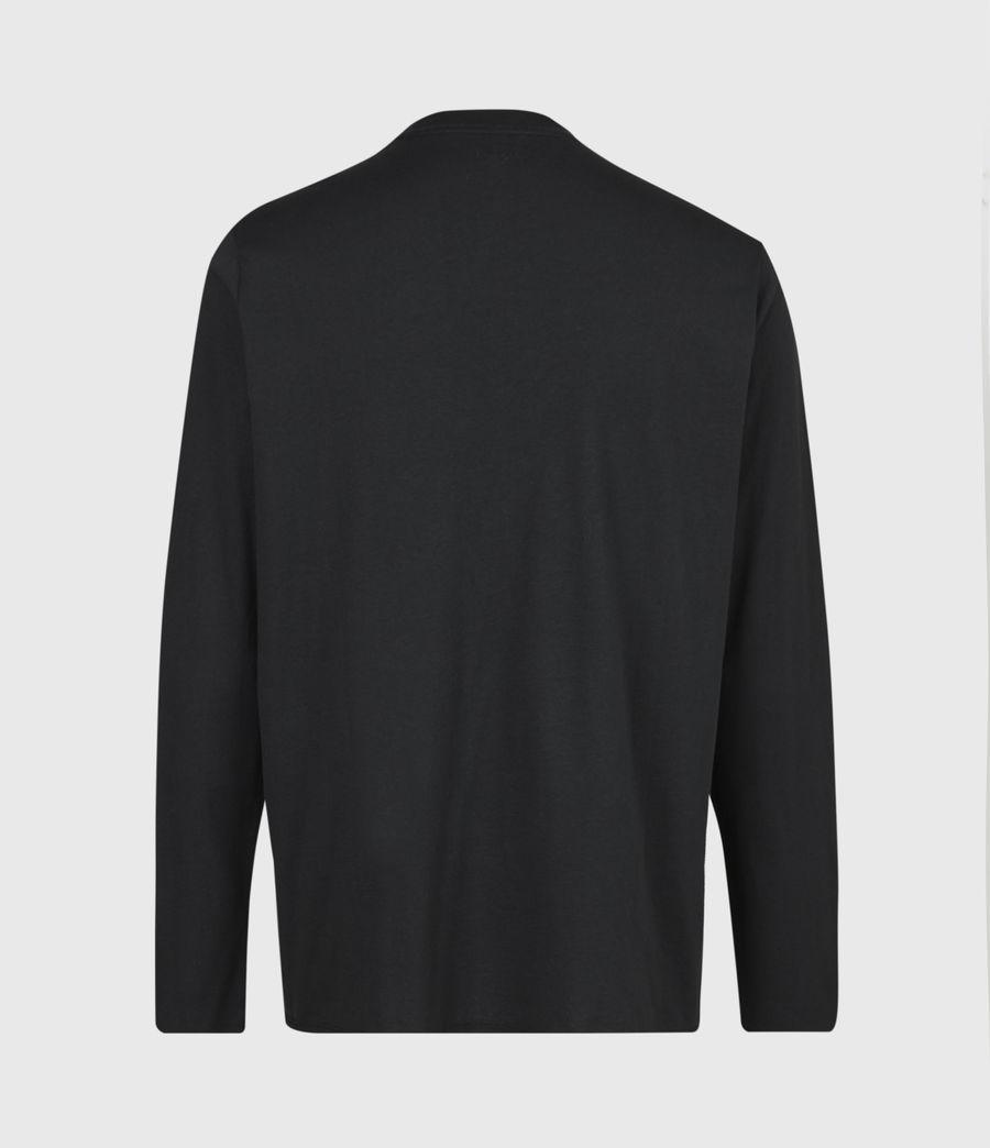 Mens Vertice Long Sleeve Crew T-Shirt (vintage_black) - Image 3