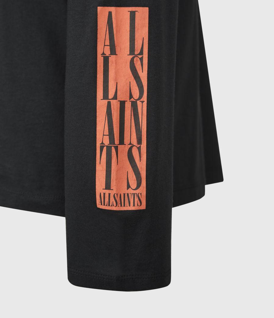 Mens Vertice Long Sleeve Crew T-Shirt (vintage_black) - Image 7