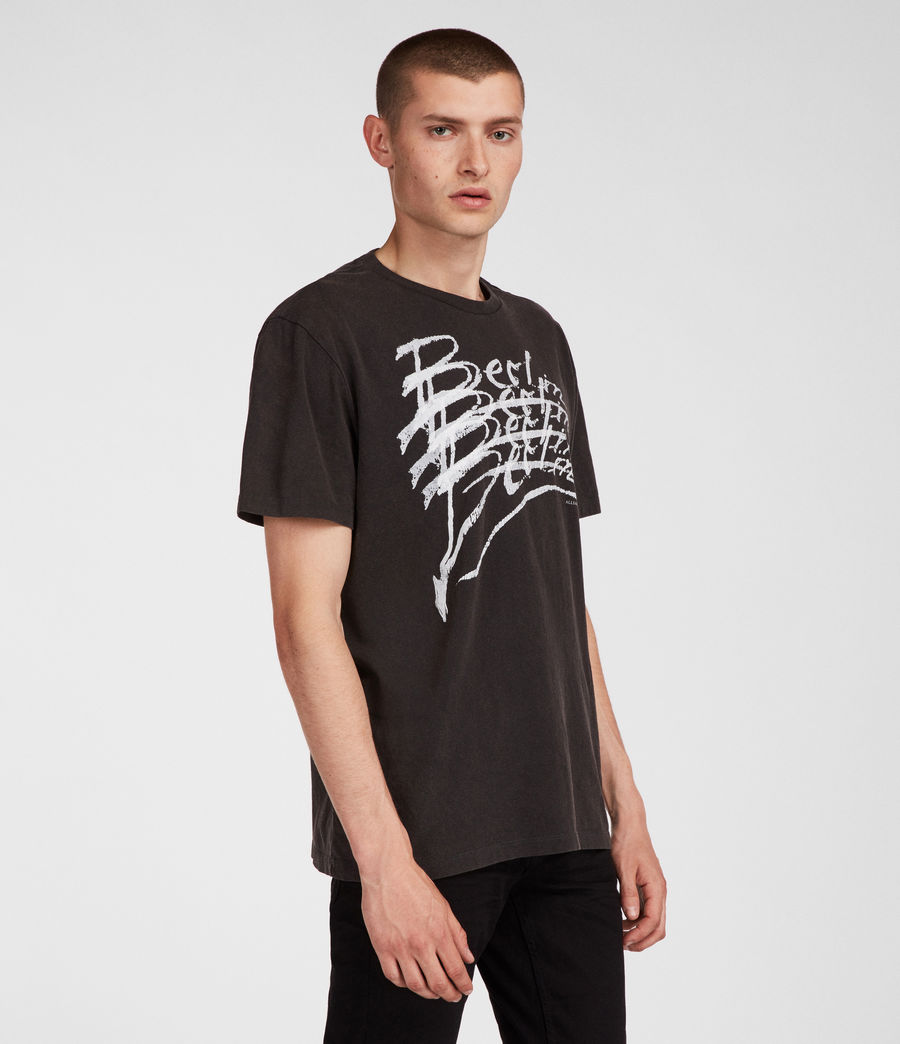 Men's Berlin Crew T-Shirt (vintage_black) - Image 1