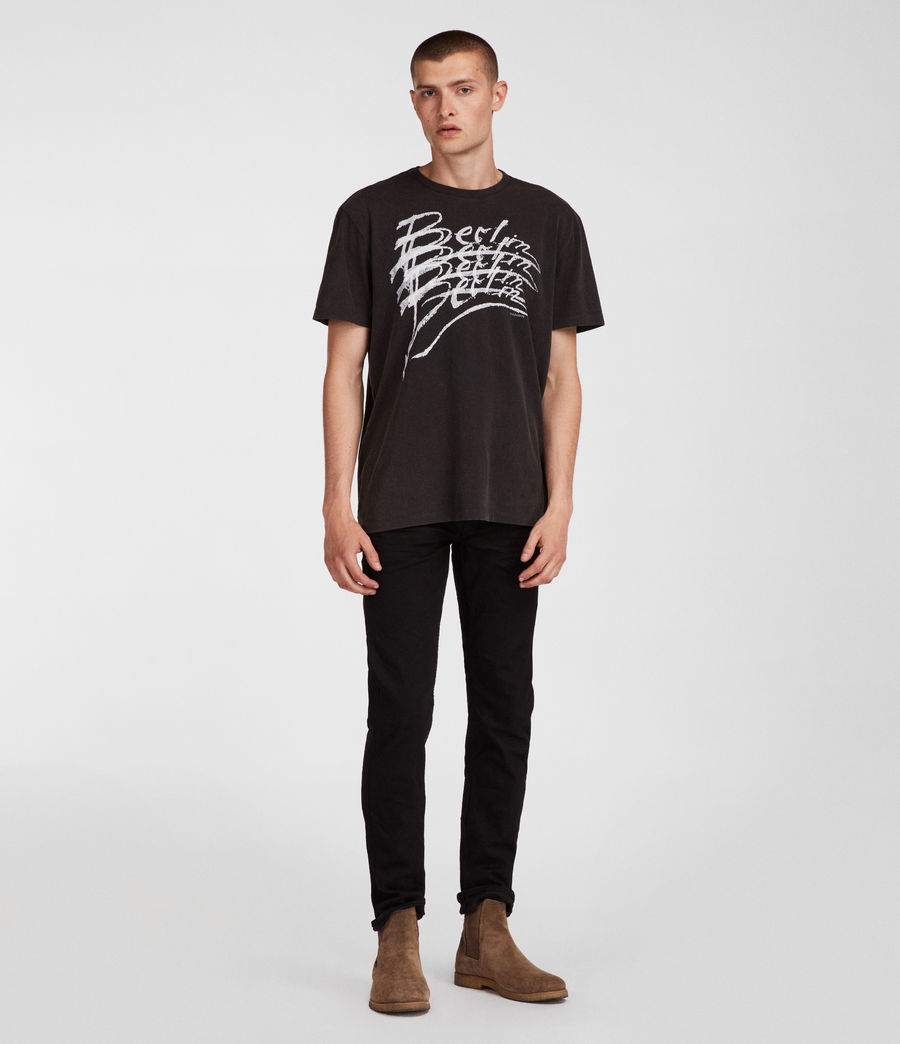 Men's Berlin Crew T-Shirt (vintage_black) - Image 2