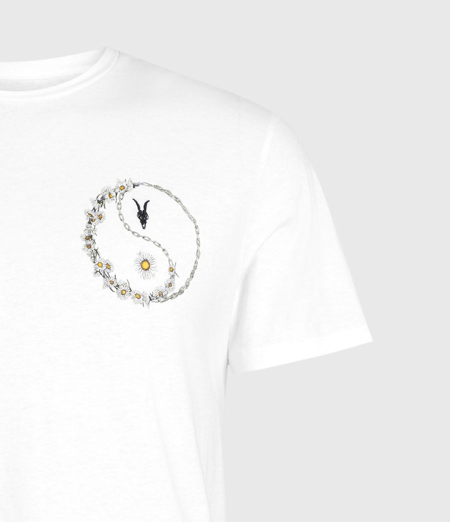 Mens Daisy Chain Crew T-Shirt (optic_white) - Image 3